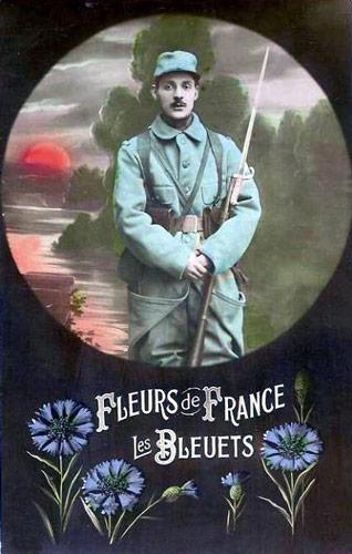 CPA Bleuet de France 1914 1918