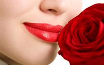 Visage Rose Fleur Flora