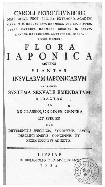 Flora japonica Thunberg
