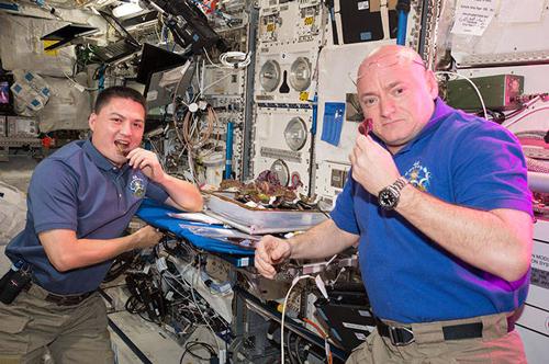 Astronautes Degustation salade ISS Nasa