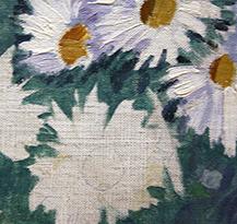 Gustave Caillebotte Parterre de Marguerites Olieverf op doek 1893 detail