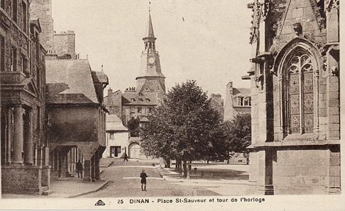 Dinan Place Saint Sauveur Historique