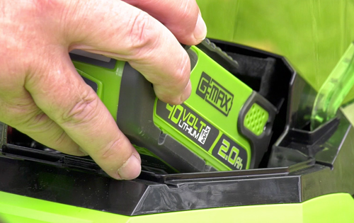 Batterie Greenworks.Miseenplace Mioulane NewsJardinTV Jardimiou 1215214