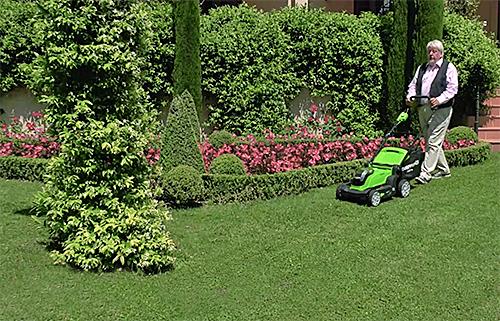 Tondeuse 41cm Greenworks Mioulane NewsJardinTV Jardimiou 8845478